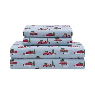 Talia Holiday Microfiber Print Sheet Set