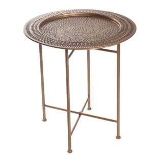 Peeples Hammered End Table by Bungalow Rose