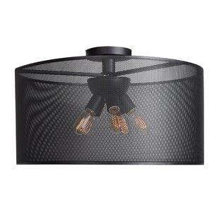 Brayden Studio Lacey Round 6-Light 5W Semi Flush Mount