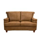 Roseberry Leather Loveseat by Charlton Home®