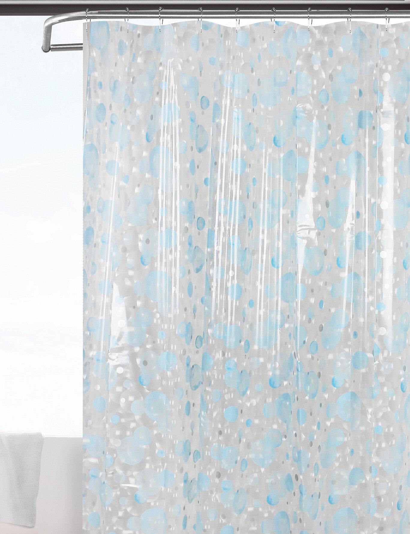 Picture of: Highland Dunes Rochon Bubble 3d Semi Transparent Single Shower Curtain Wayfair
