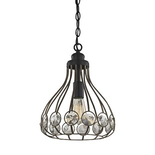 Bungalow Rose Dallas Crystal 1-Light Foyer Pendant