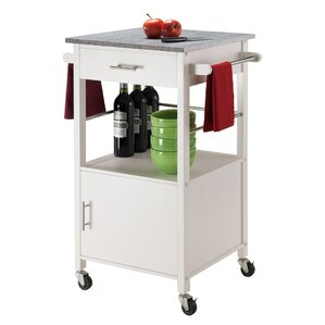 Davenport Kitchen Cart with Granite Top by Winsome