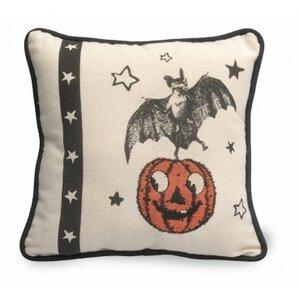Bat Halloween Throw Pillow