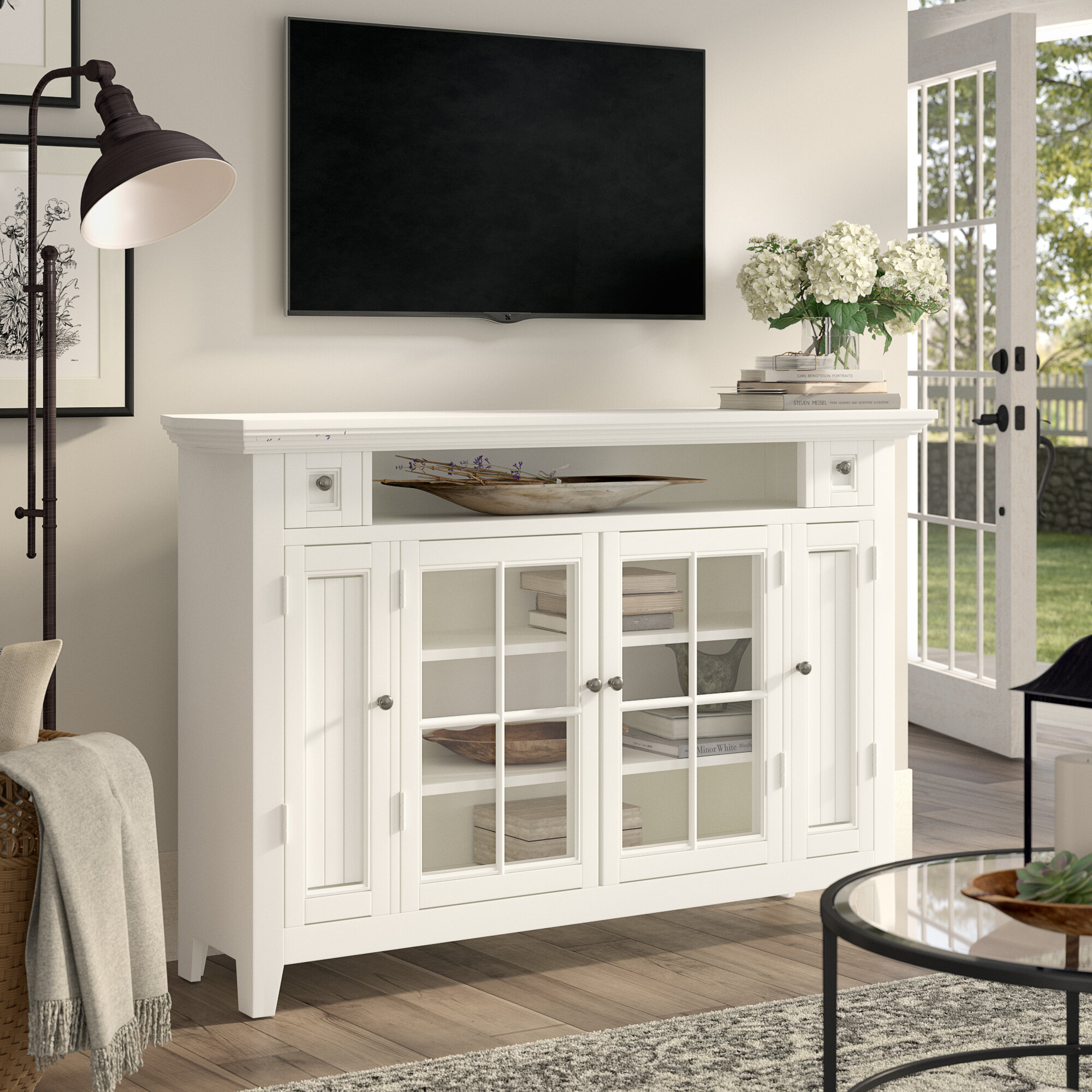 Birch Lane Heritage Benedetto Corner Tv Stand For Tvs Up To 65