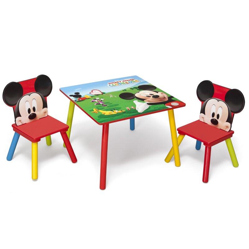 Mickey Mouse & Friends 3 Tlg Tisch Und Stuhl Set Mickey