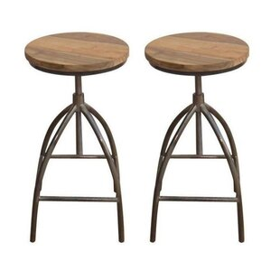 Broadalbin Adjustable Height Bar Stool (Set of 2) by Foundry Select