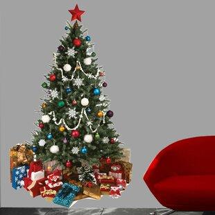 christmas tree cutout wall decal