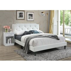 Faux Leather White Wood Beds You Ll Love In 2020 Wayfair