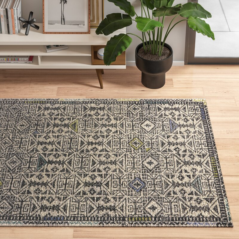 Chelsea Hand Tufted Wool Black Area Rug