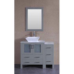 Daytona 42 Single Bathroom Vanity Set with Mirror by Bosconi