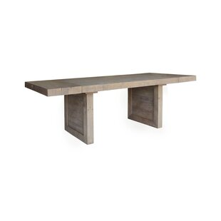 Liesel Extendable Solid Wood Dining Table Millwood Pines