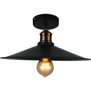 Cosimo 1-Light Semi Flush Mount by Williston Forge