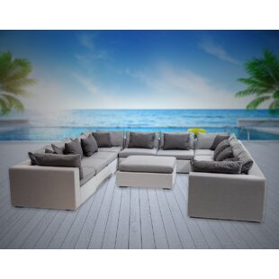 Malani 11 Piece Sunbrella Sectional Seating Group with Sunbrella Cushions by Brayden Studio