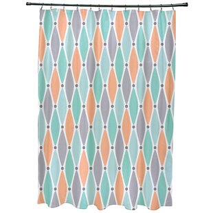 Cedarville Wavy Geometric Print Single Shower Curtain