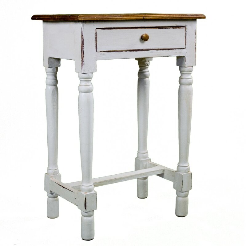 Antique Revival Rosemary Rustic Side Table | Wayfair