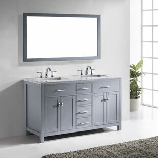Top Reviews Kenilworth 59 Double Bathroom Vanity Set with Mirror By Highland Dunes