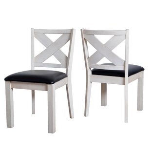 Reviews Hobart Wooden Upholstered Dining Chairs (Set of 2) by Rosecliff Heights Reviews (2019) & Buyer's Guide