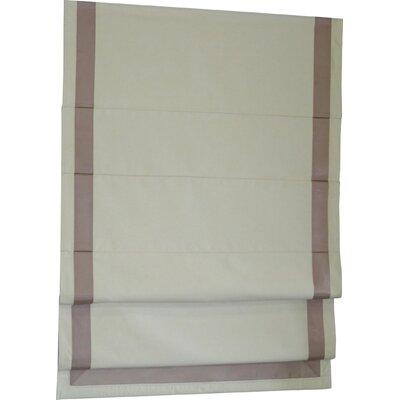 Beachcrest Home Indoor Cordless Blackout Roman Shade Color: Taupe/Natural, Size: 40 W x 63 L