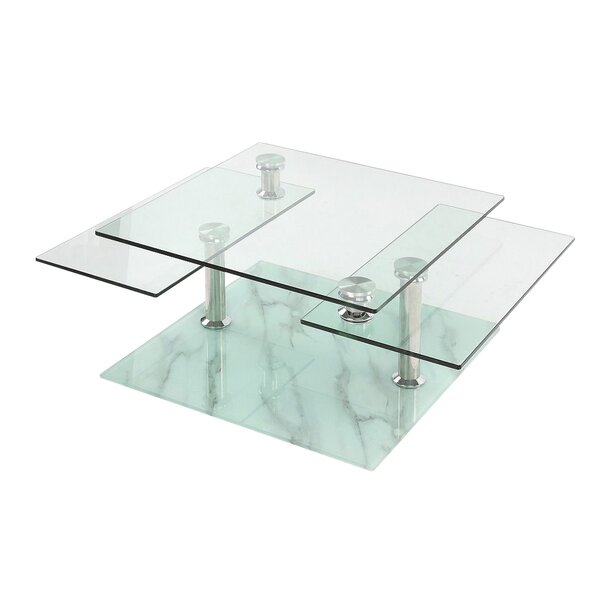 Orren Ellis Esmeralda Floor Shelf Coffee Table With Storage Wayfair