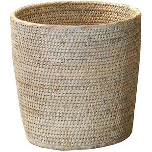 Mistana Efren Rattan Open Waste Basket