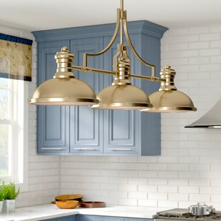 Red Barrel Studio Susan 3-Light Kitchen Island Pendant