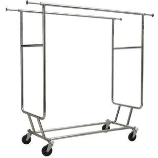 Comparison Collapsible Double Bar Garment Rack By Rebrilliant