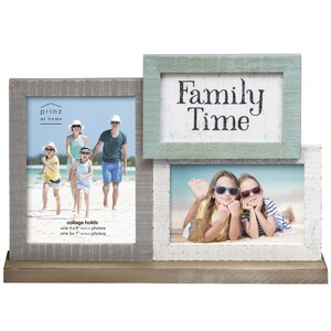 Water's Edge 'Family Time' Coastal Mantel Collage Picture Frame