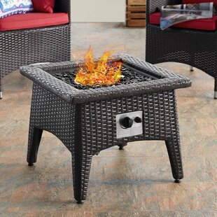 Vivacity Outdoor Patio Aluminum Propane Fire Pit By Modway