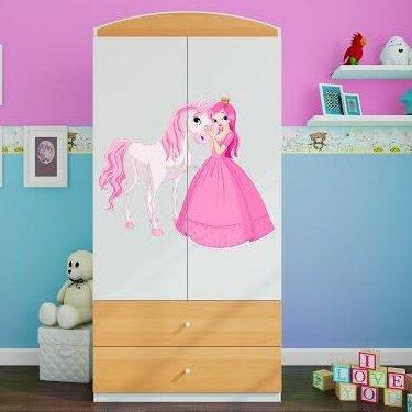 Kleiderschrank Caswell Zipcode Design Farbe: Buche | Schlafzimmer > Kleiderschränke > Drehtürenschränke | Zipcode Design