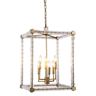 Crescentia 6-Light Square/Rectangle Chandelier by Everly Quinn