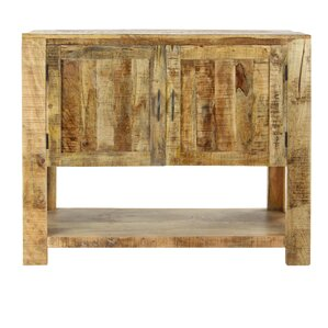 Bibeau Rustic Mango Wood Distressed 2-Door Server by Loon Peak