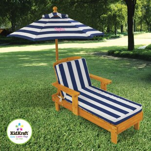 KidKraft Personalized Chaise with Umbrella