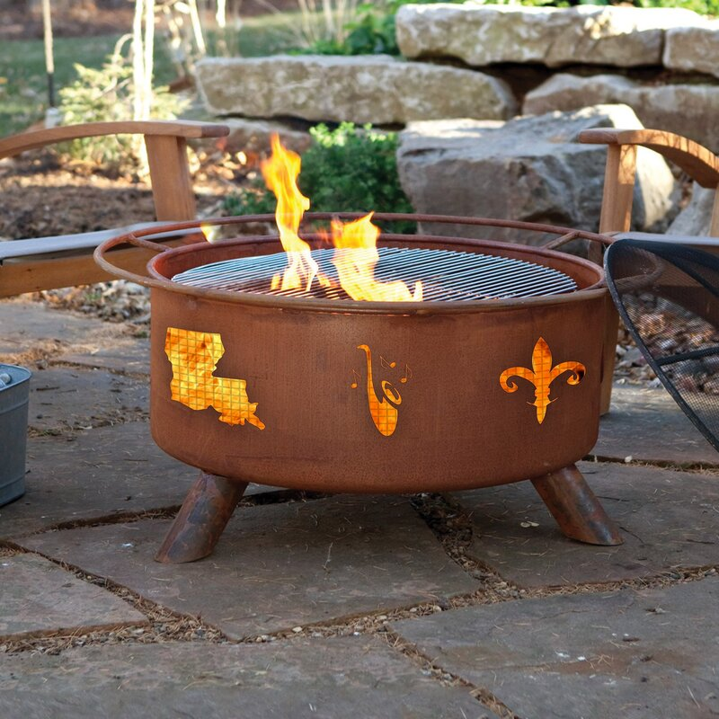 Millwood Pines Jauregui Steel Wood Burning Fire Pit Wayfair
