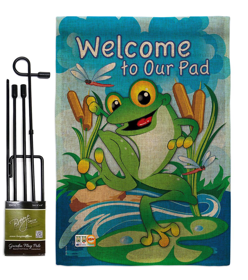 Breeze Decor Frog 2 Sided Burlap 19 X 13 In Garden Flag Wayfair