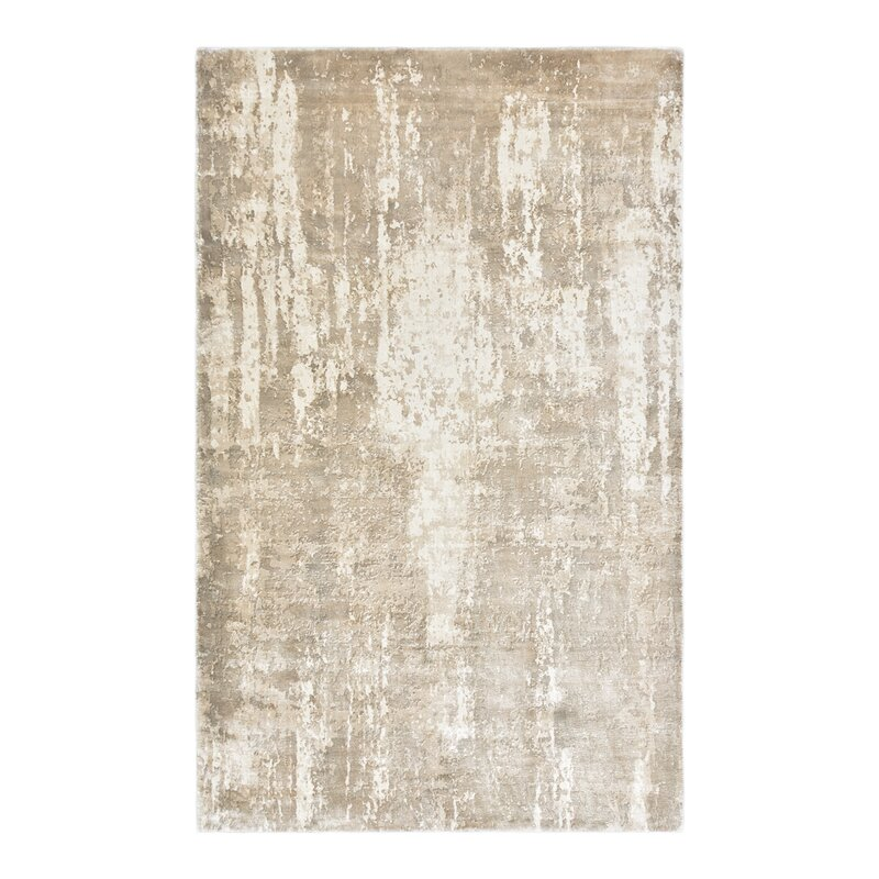 Solo Rugs Jevon Hand Knotted Beige Area Rug Perigold