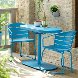 Outdoor bistro sets youll love wayfair harlan 3 piece bistro set watchthetrailerfo