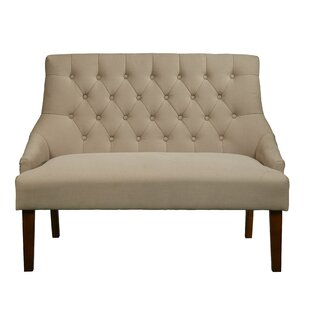 Greenacre Button Tufted Upholstered Settee by Alcott Hill