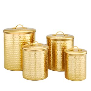 Hammered Storage 4 Piece Canister Set