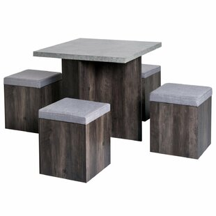 Merdasa Dining Set With 4 Chairs By 17 Stories