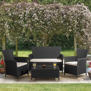 Breezeknoll 4 Seater Rattan Effect Sofa Set Image
