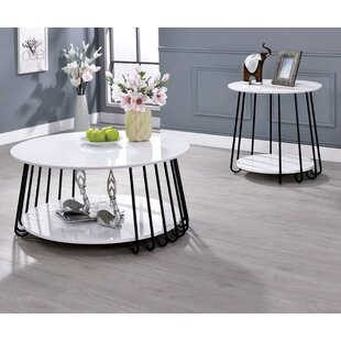 Inexpensive Bashaw 2 Piece Coffee Table Set (Set of 2) ByWrought Studio