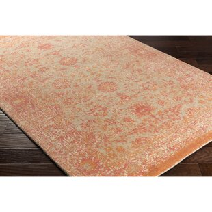 Anselma Hand Loomed Khaki Pink Area Rug