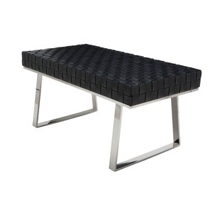 Hyperion One Seat Leather Bench by Orren Ellis
