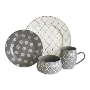 moroccan 16 piece dinnerware set service for 4