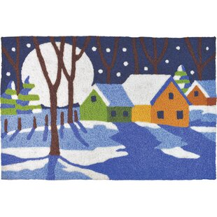 Anthea A Winter'S Night Utility Mat by The Holiday Aisle