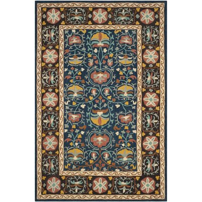 Darby Home Cobaumgartner Oriental Handmade Tufted Wool Blue Red Brown Area Rug Darby Home Co Rug Size Rectangle 4 X 6 Dailymail