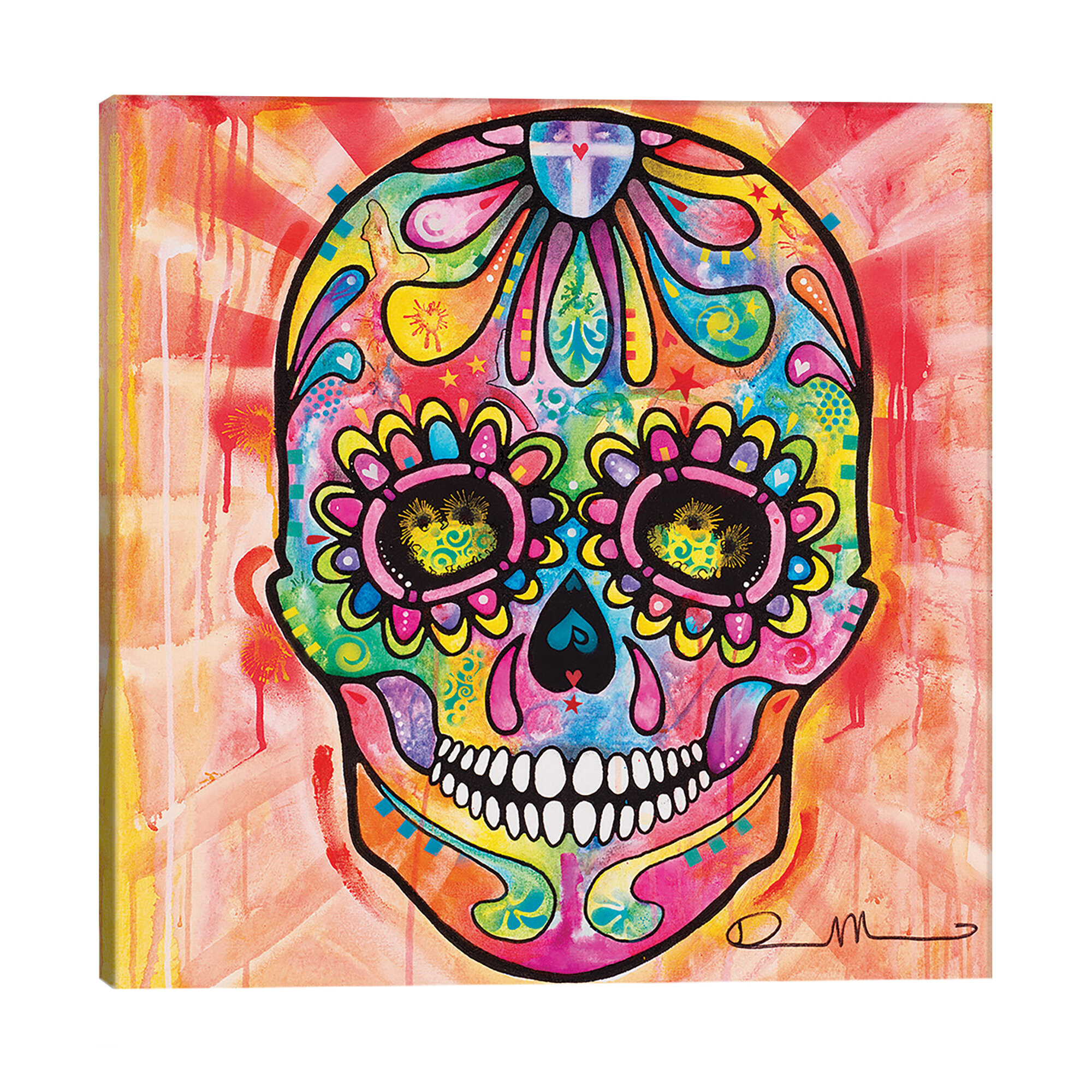 Mercury Row Sugar Skull Day Of The Dead By Dean Russo Graphic Art On Wrapped Canvas Wayfair