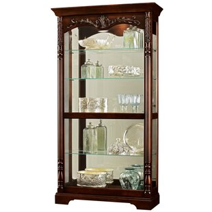 Bogle Lighted Curio Cabinet by Astoria Grand
