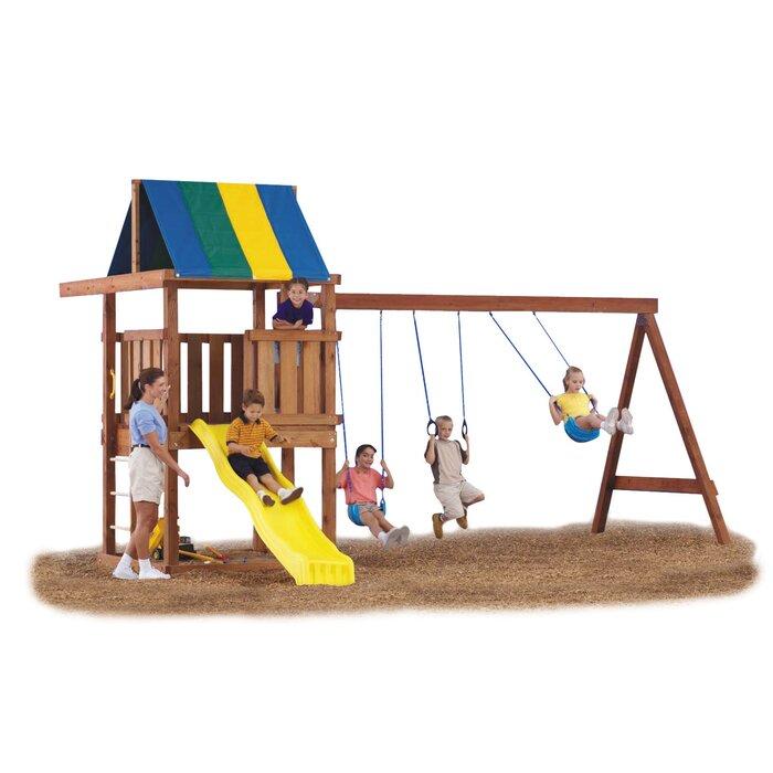 Wrangler Custom Diy 12 Piece Swing Set Hardware Kit Wood And Slide Not Included